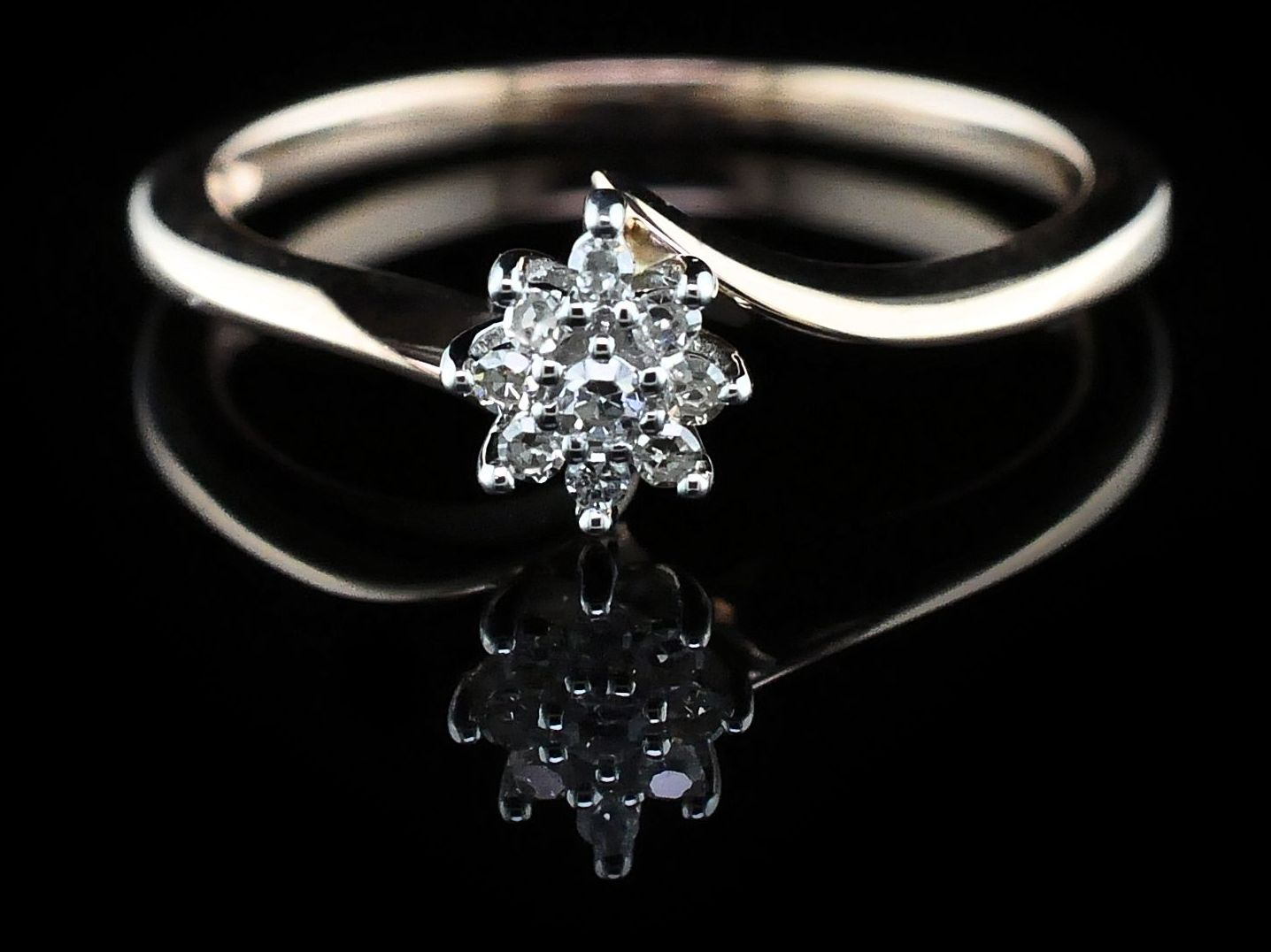 Diamond Engagement Rings - Diamond Wedding Set - image 3