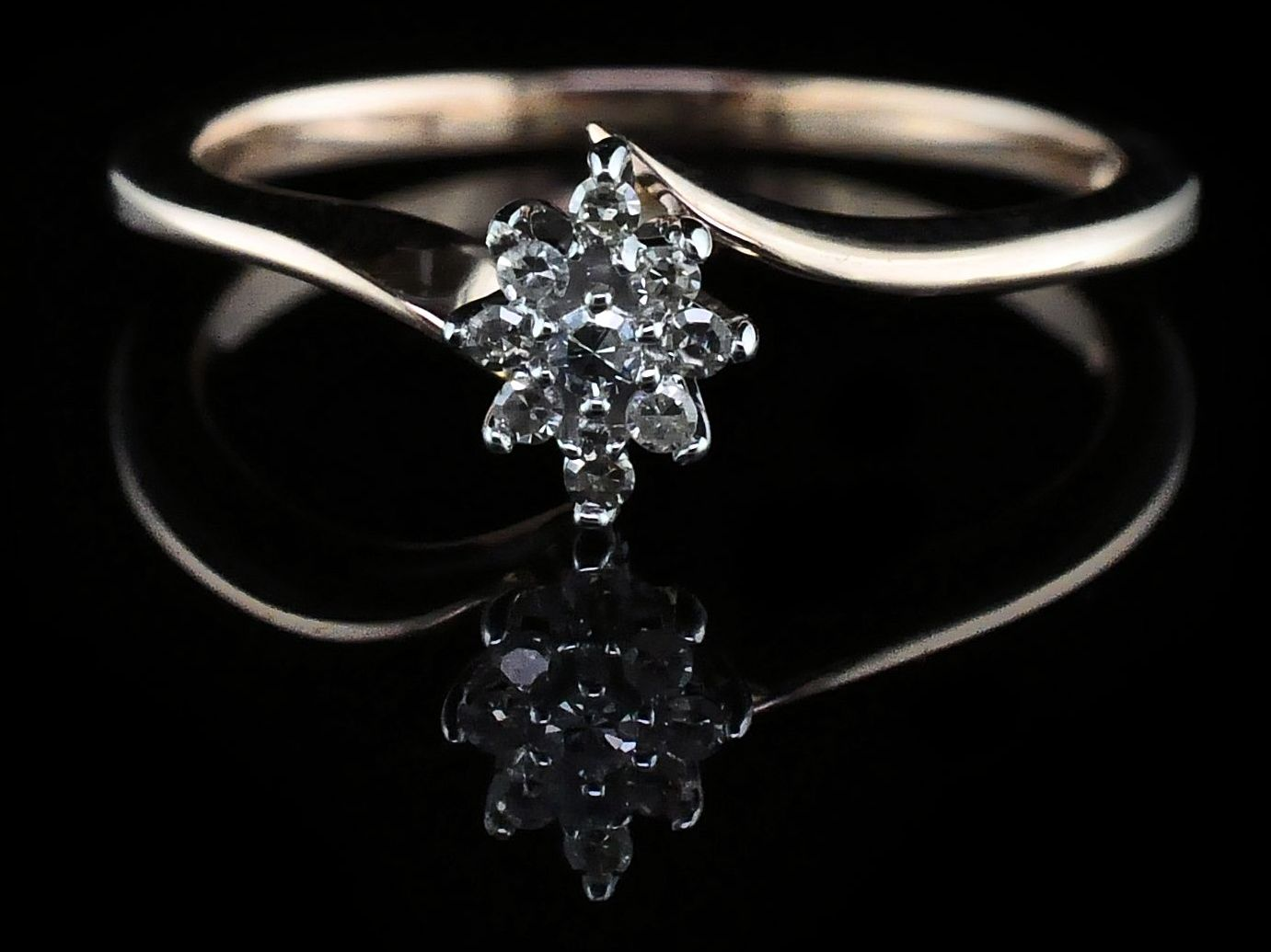 Diamond Engagement Rings - Rose Gold and Diamond Wedding Set - image #3