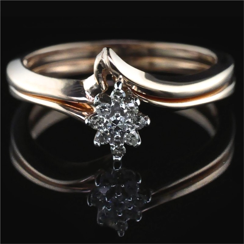 Diamond Engagement Rings - Rose Gold and Diamond Wedding Set
