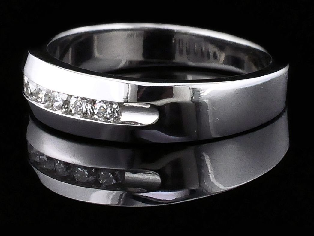 Women's Diamond Wedding Bands - Diamond Anniversary Band - image #2