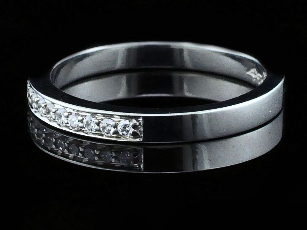 Women's Diamond Wedding Bands - Ladies Diamond Wedding Band - image #2