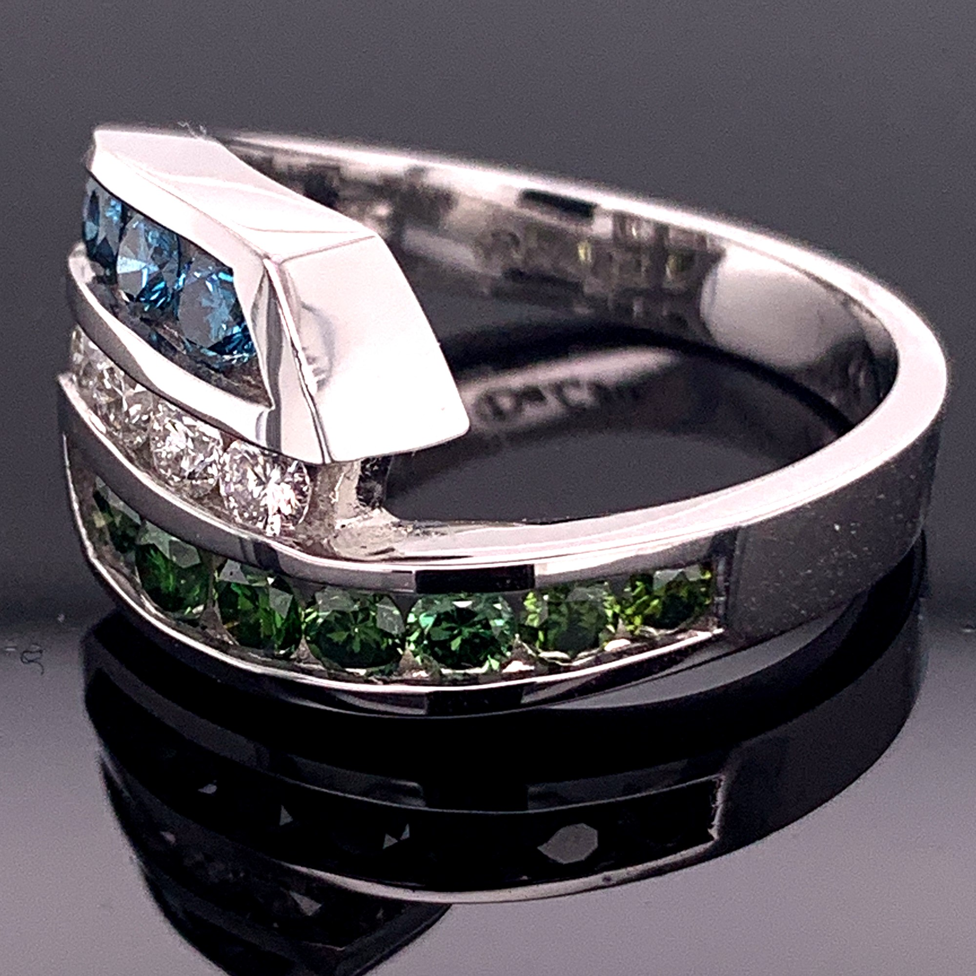 Women's Diamond Fashion Rings - Ladies DeLeo Colored Diamond Fashion Ring - image #2