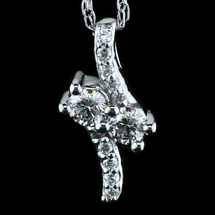 Diamond Pendants - 2-Stone Diamond Pendant