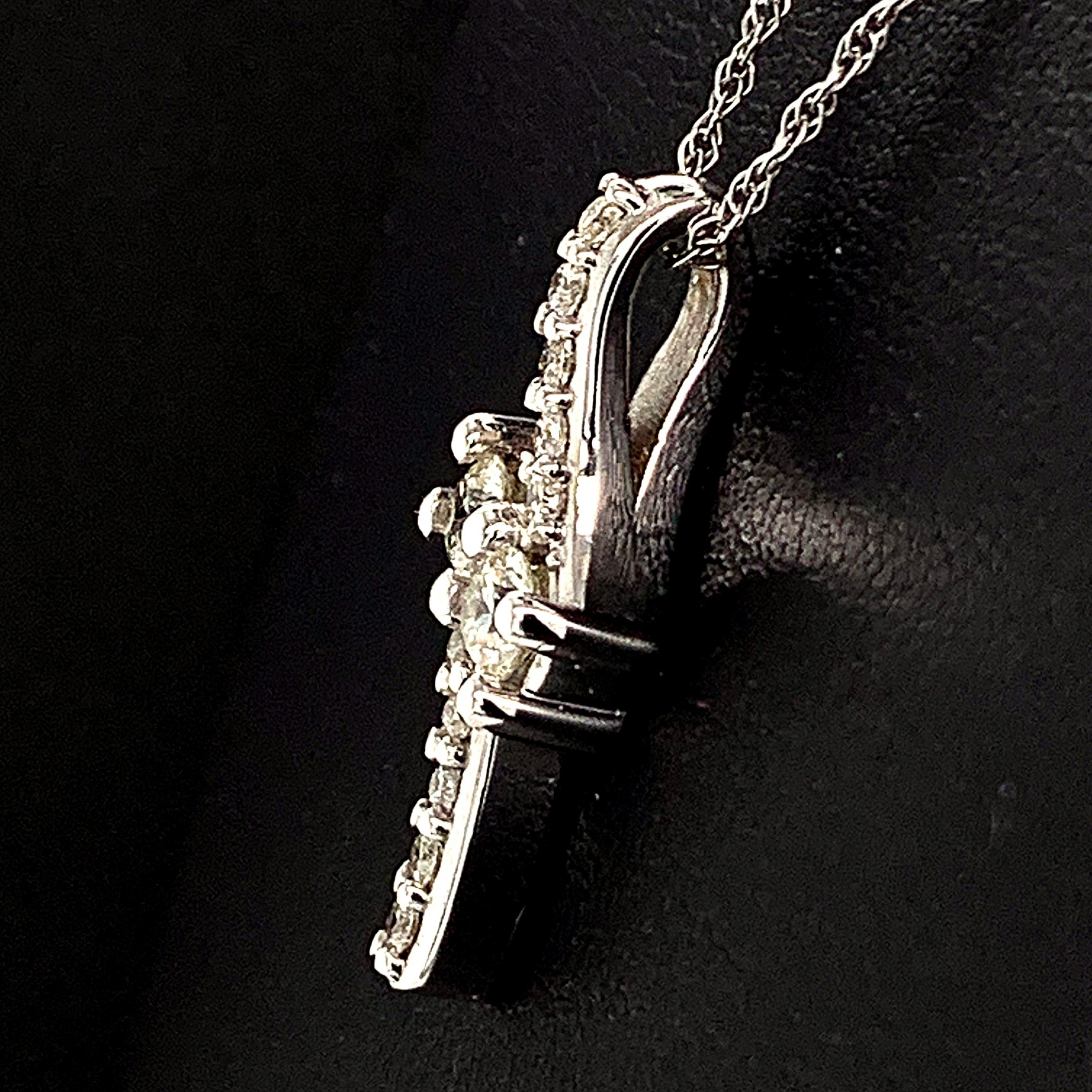 Diamond Pendants - 2-Stone Diamond Pendant - image #2