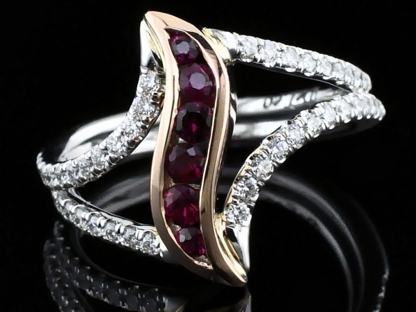 Women's Colored Stone Rings - Ladies DeLeo Ruby Fashion Ring