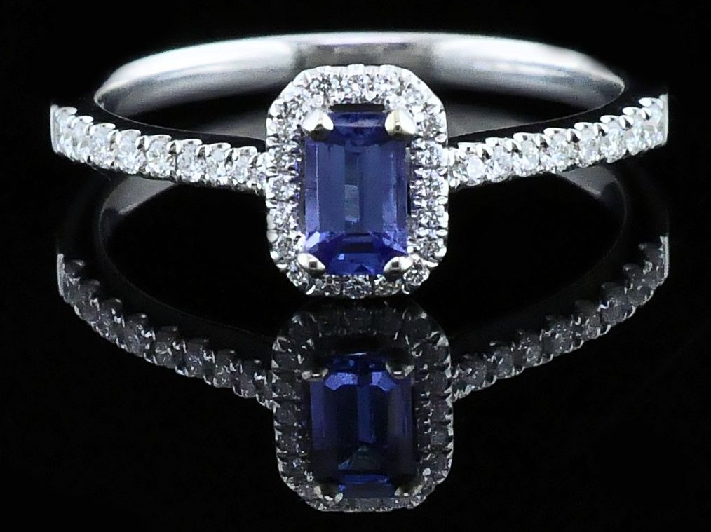 Women's Colored Stone Rings - Ladies Tanzanite and Diamond Fashion Ring