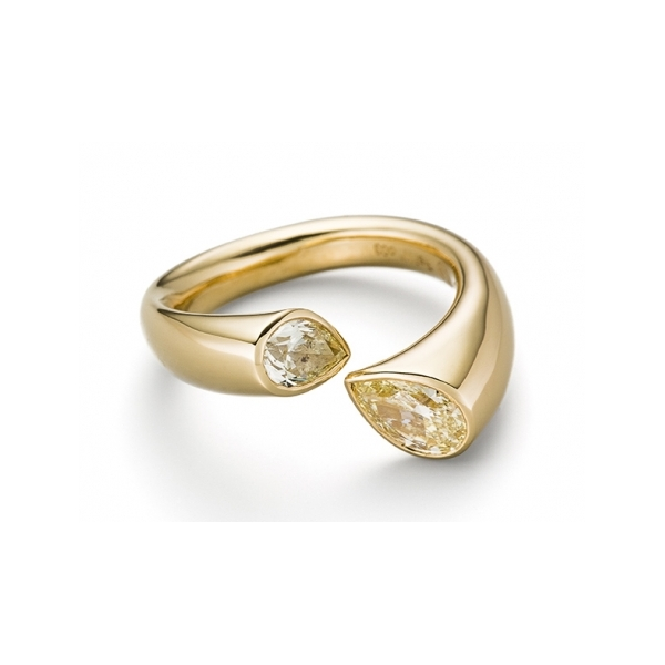 Engagement - Calla Pear Shaped Diamond Ring - image #2