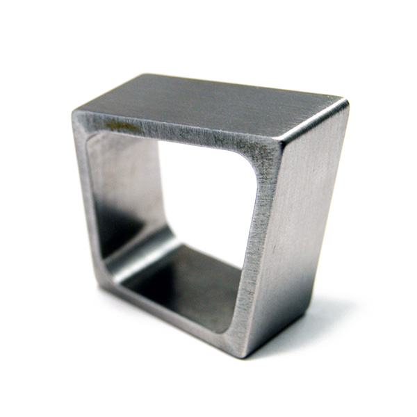 Rhomboid Ring - Designer: Humphrey Style: Rhomboid RingMetal: stainless steel, 11.0mm wideFinger Size:  58 metric, approx. 8 1/2 US