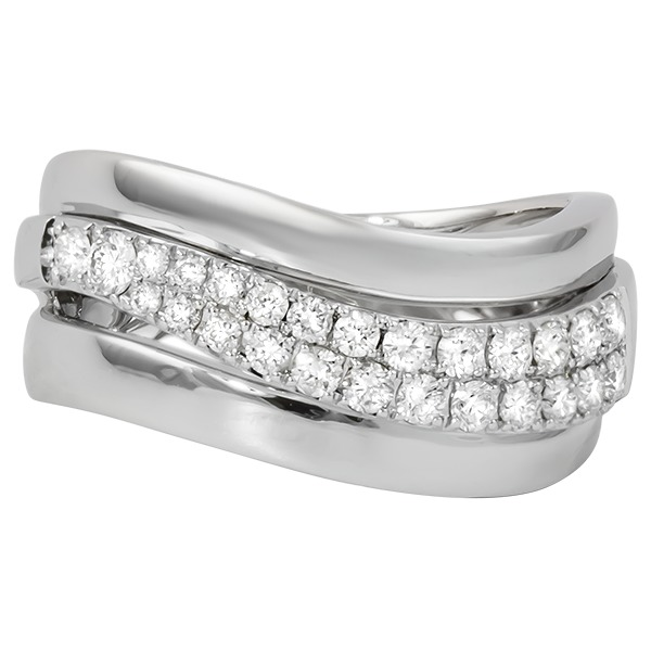 Fashion Ring - 14KT TWO TONE DIAMOND RING 0.50CTTW H COLOR SI2 CLARITY