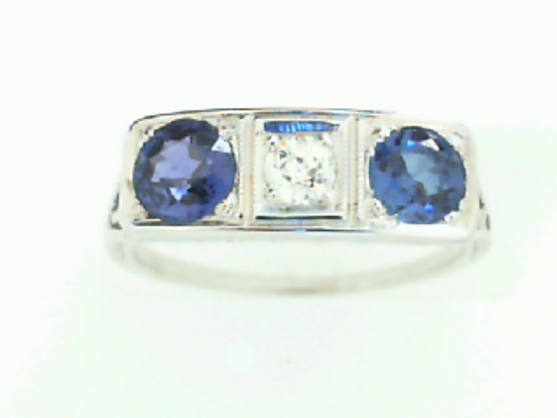 Estate & Vintage Jewelry - ESTATE FILIGREE DIAMOND AND SAPPHIRE RING - image #2