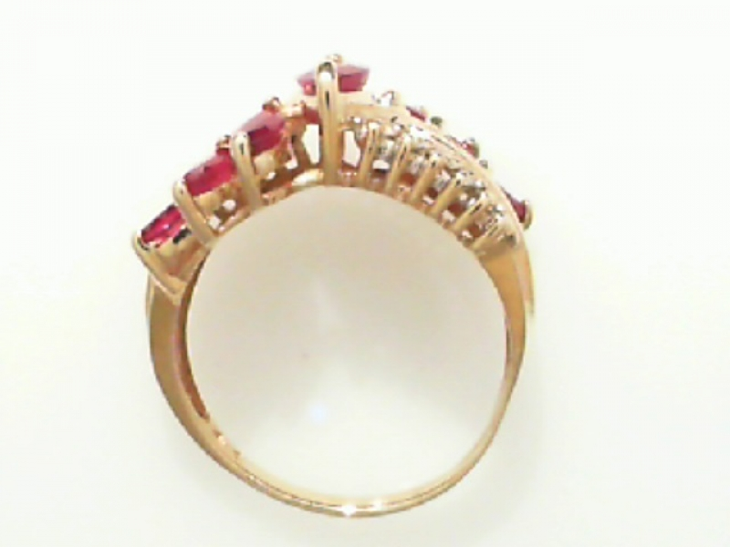 Estate & Vintage Jewelry - ESTATE RUBY & DIAMOND RING - image 2