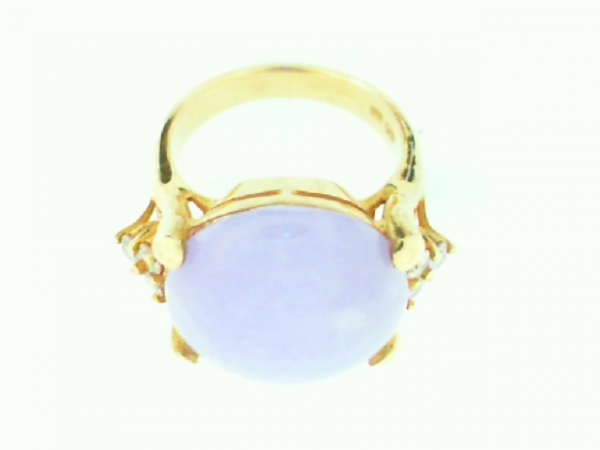 Estate & Vintage Jewelry - ESTATE PURPLE JADE RING