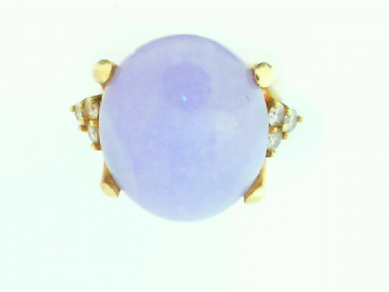 Estate & Vintage Jewelry - ESTATE PURPLE JADE RING - image 2