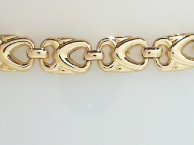 Estate & Vintage Jewelry - ESTATE GOLD LINK BRACELET - image 2