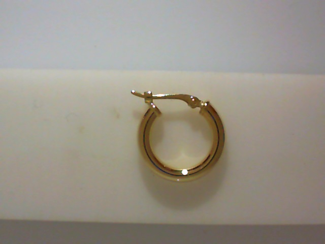 Earrings - Lady's Yellow 14 Karat Small Hoop Earrings