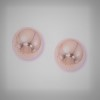 Earrings - Lady's Rosé 14 Karat 8 Mm Ball Earrings