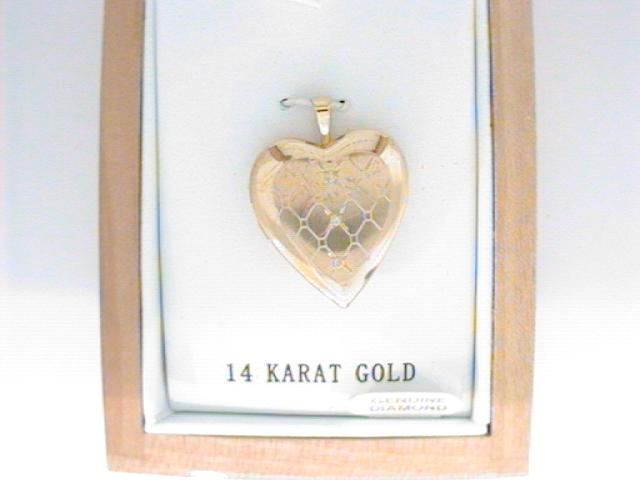 Charms - Yellow 14 Karat Quilted Locket