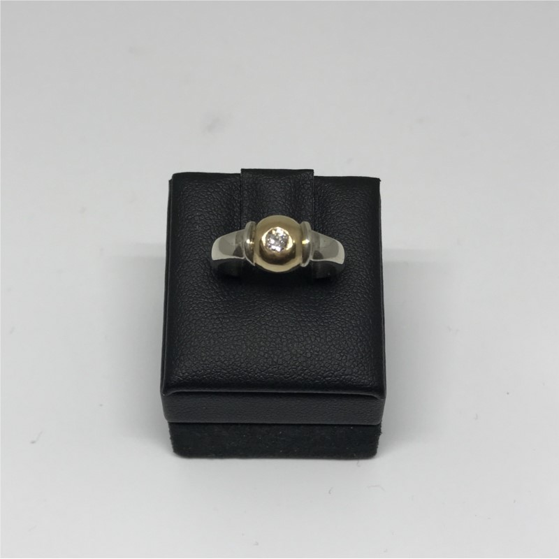Ring - Sterling Silver And 14K Cape Cod Ring