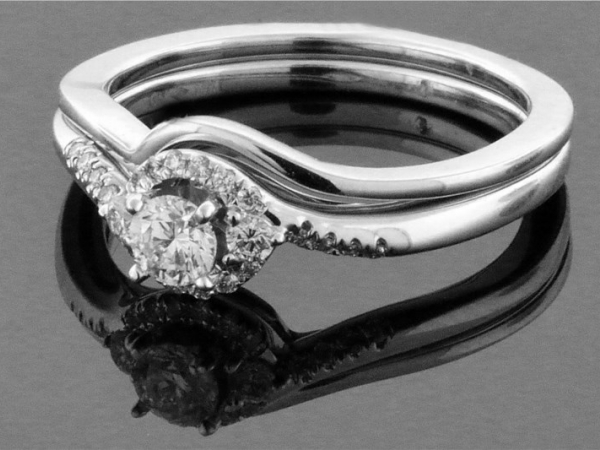 Wedding Set - 14KW .33CTW DIAMOND WEDDING SET