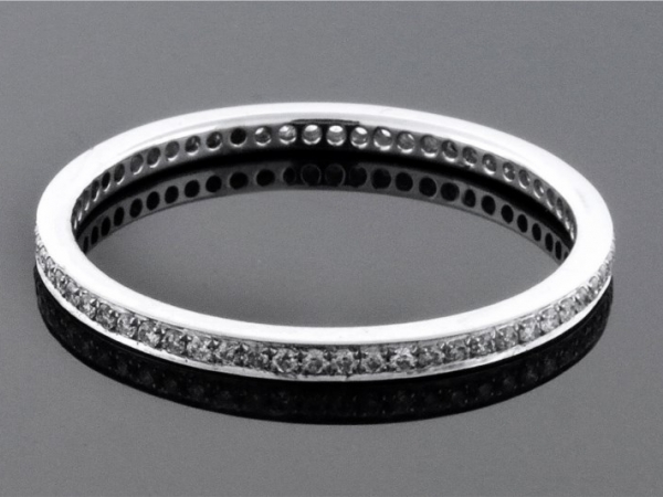Anniversary Ring - 18KW .20CTW LDS PARADE DIAMOND ETERNITY BAND