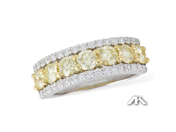Fashion Ring - 14KTT 1.64CTW YELLOW & WHITE DIAMOND RING