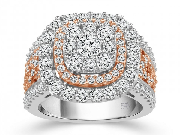 Fashion Ring - 14KW&R 2.5CTW LDS DIAMOND RING