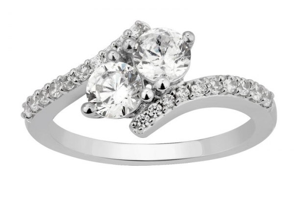 Fashion Ring - 14KW 2.0CTW 2 STONE DIAMOND RING
