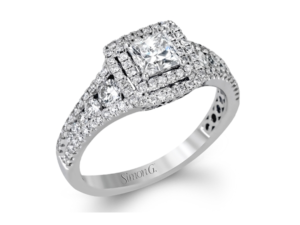 Fashion Ring - 18KW PC=.51CT SD=.68CTW SIMON G DIAMOND RING AUTH#570666