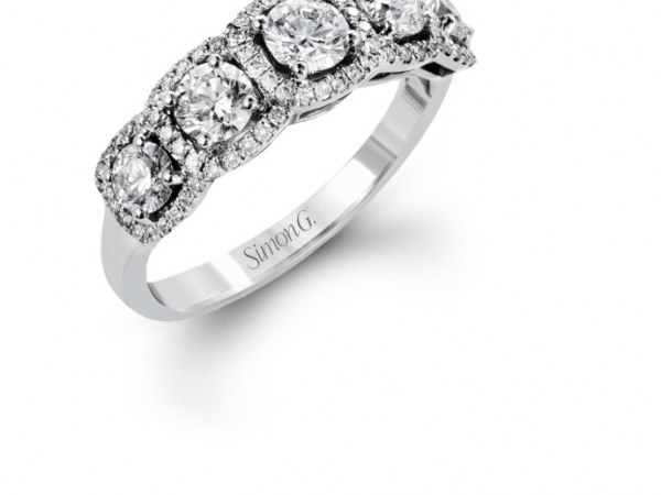 Fashion Ring - 18KW 1.26CTW SIMON G DIAMOND BAND AUTHENTICITY # 573649