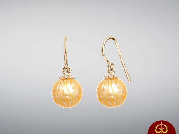 Earrings - 14KY PEACH 'CALLA LILLY' PEARL EARRING