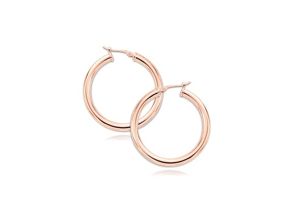 Earrings - 14KR LARGE HOOP EARRINGS