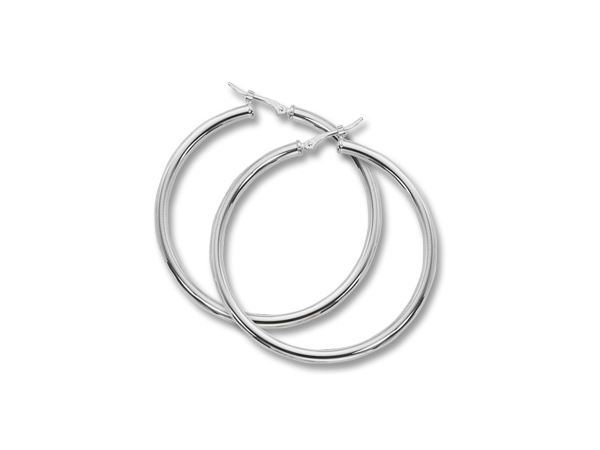 Earrings - 14KW LARGE HOOP EARRINGS