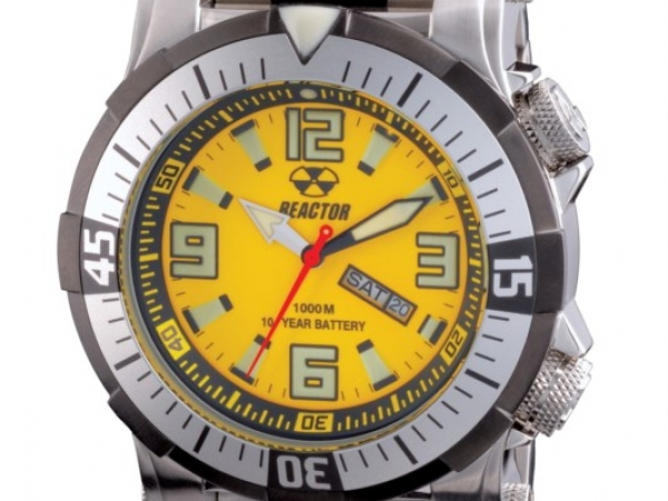 Watch - POSEIDON STAINLESSS, YELLOW/BLACK DIAL 2 TONE STRAP REACTOR WATCH