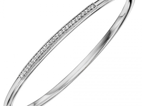 Bracelet - STERLING SILVER BLACK TONE BANGLE