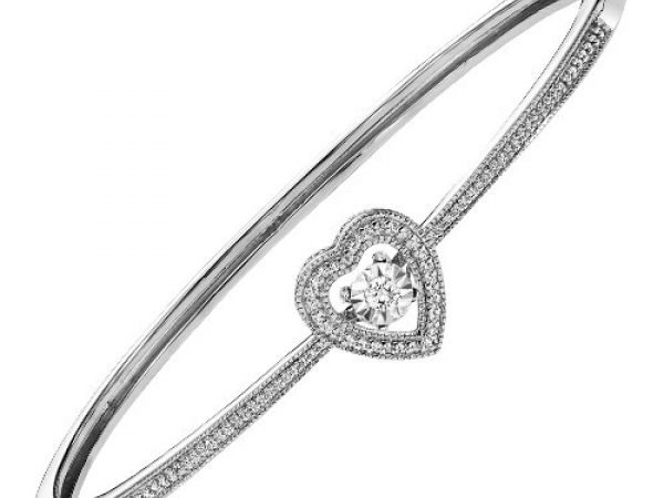 Bracelet - STERLING SILVER .25CTW DIAMOND RHYTHM OF LOVE BRACELET