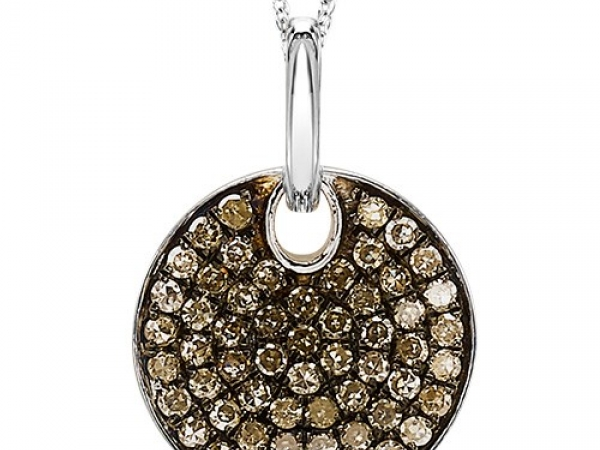 Pendant - STERLING SILVER .51CTW BROWN DIAMOND PENDANT