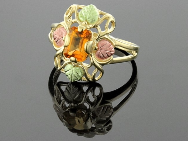 BHG Ring - 10K BHG LDS RING W/ORANGE STONE PURCHASED AS IS ORIGINAL $550.00