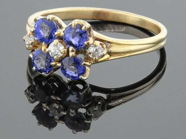 BHG Ring - 14KY PURPLE STONE CLUST RING PURCHASED AS IS ORIGINAL $2,500.00