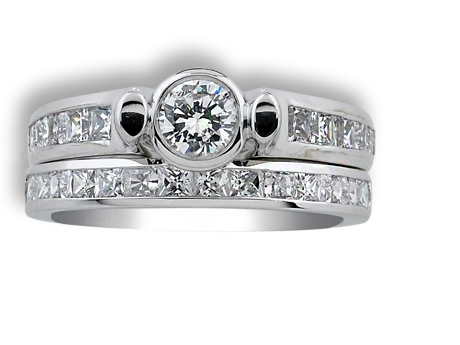Bridal Jewelry - Diamond Contemporary Engagement Ring