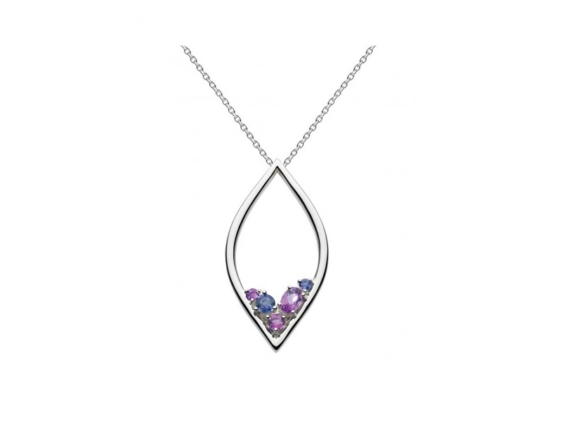 Pendants & Necklaces - Noble Serena Amethyst  and Iolite Necklace  - image #2