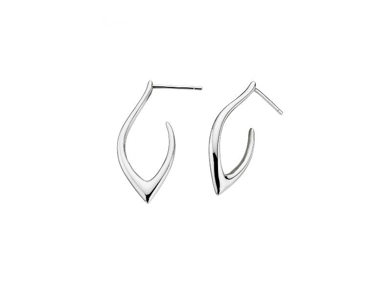 Earrings - Marquise Pointed Hoops  - image 2
