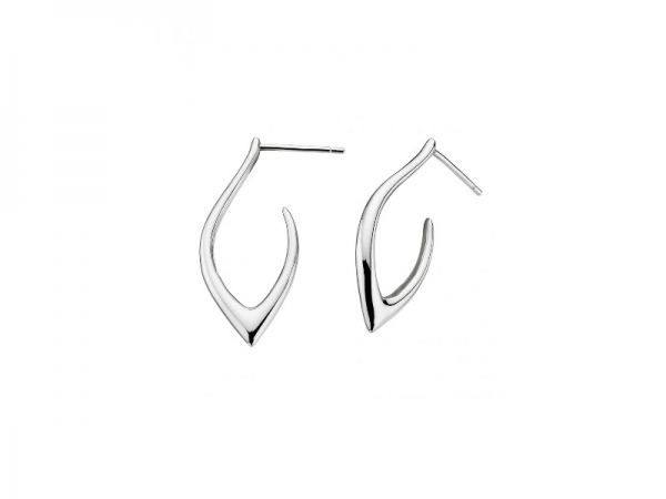 Earrings - Marquise Pointed Hoops