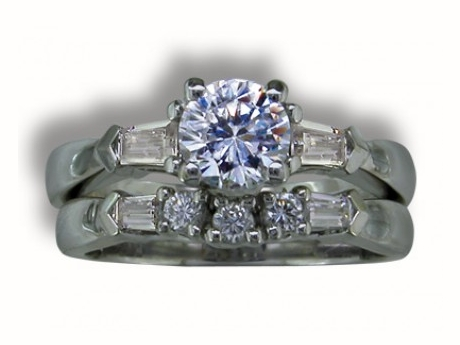 Bridal Jewelry - Diamond Baguette Semi Mount