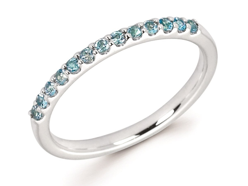 Rings - Blue Topaz Stackable Ring - image #2
