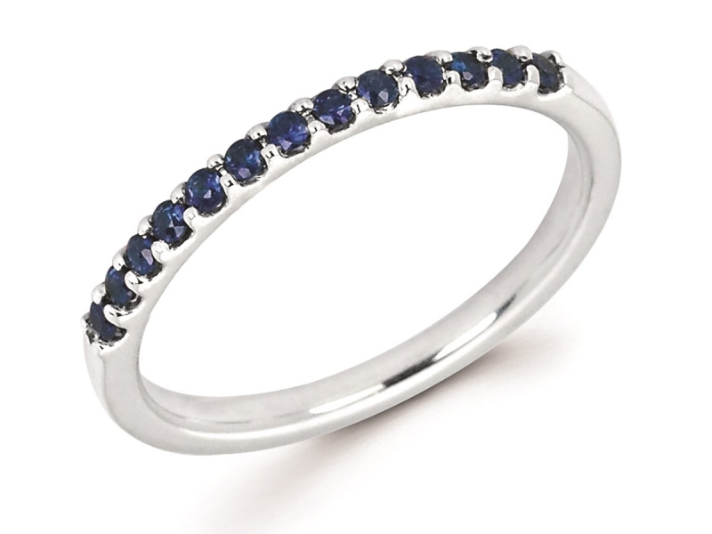 Rings - Sapphire Stackable Ring - image #2