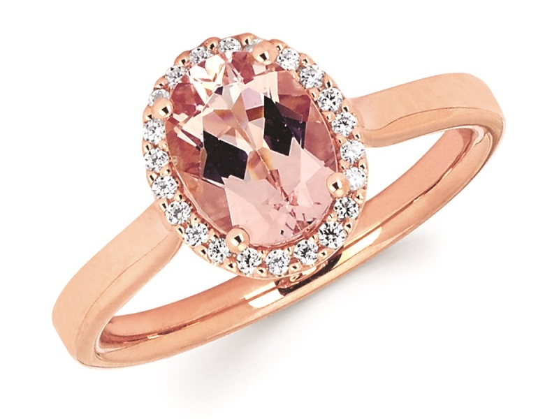 Rings - Rose Gold Oval Morganite RIng - image #2