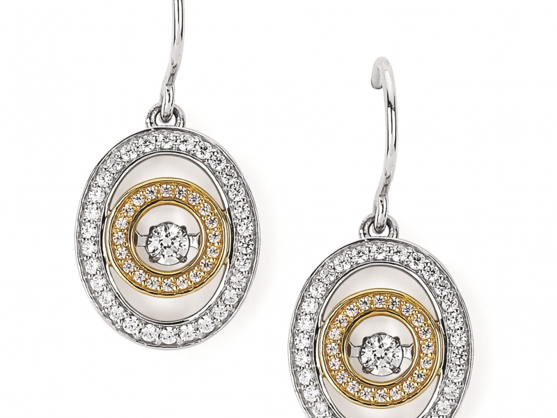 Earrings - TT Shimmering Diamond Earrings - image #2