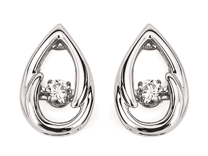 Earrings - SS Shimmering Diamond Earrings  - image #2