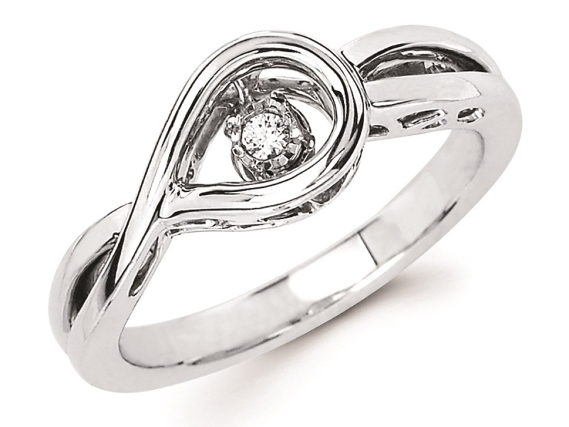 Shimmering Diamond  - Silver Shimmering Diamond Ring - image #2