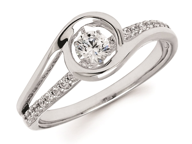 Rings - 14K Shimmering Diamond Ring  - image #2